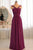 Simple Sleeveless Chiffon Strapless Floor Length Bridesmaid Dress B430