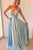 Gorgeous Blue Spaghetti Straps Sleeveless Party Dress Prom Dress P694