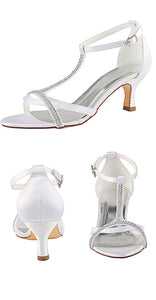 Simple Ankle Strap Handmade Beading Beach Wedding Shoes S17