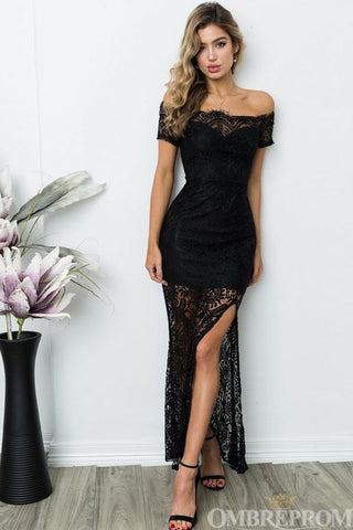 products/Black_Prom_Dress_Lace_Off_Shoulder_Short_Sleeves_Event_Dress_with_Split_Side_D63_2.jpg