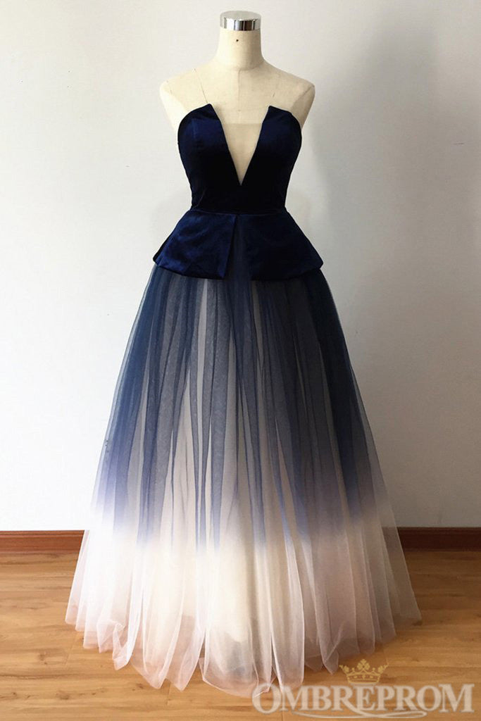 Charming Ombre Ball Gowns Lace Up Prom Dress D283