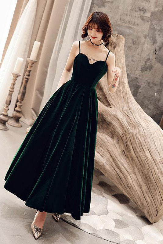 Charming Spaghetti Straps Sweetheart Sleeveless A Line Prom Dress D297