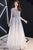 Chic Round Neck A Line Lace Up Back Ombre Prom Dress D295