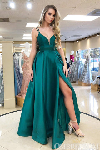 products/Dark_Green_Satin_V_Neck_Spaghetti_Straps_Prom_Dress_with_Appliques_D182_1.jpg