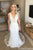 Elegant Deep V Neck Sleeveless Mermaid Lace Wedding Dresses W644