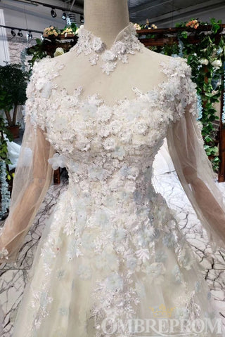 products/Elegant_High_Neck_Long_Sleeves_Tulle_A_Line_with_Appliques_D216_1.jpg