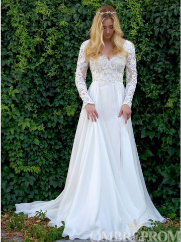 products/Elegant_Long_Sleeves_V_Neck_Top_Lace_Wedding_Dress_W716_2.jpg