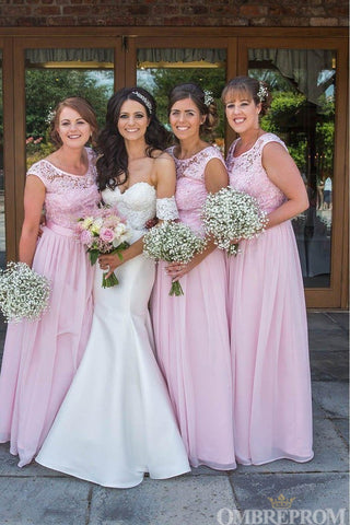 products/Elegant_Pink_Lace_Top_Round_Neck_Chiffon_Bridesmaid_Dress_B478.jpg