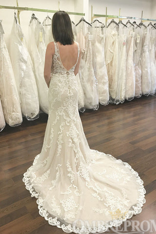 products/Flossy_V_Neck_Sleeveless_Mermaid_Lace_Wedding_Dresses_W769_1.jpg