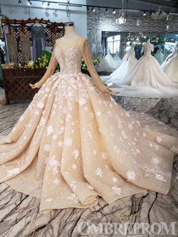 products/Gorgeous_Appliques_Lace_Wedding_Dress_with_Beading_Ball_Gown_W708_2.jpg