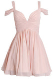 Simple V Neck Homecoming Dresses,Off Shoulder Open Back Short Prom Dress