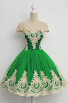 Elegant A Line Homecoming Dress,Classical Princess Ball Gown Beaed Short Prom Dresses HCD107