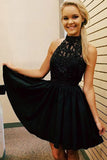 Cute High Neck Homecoming Dresses,Beading Strapless Short Prom Dress HCD110 - Ombreprom