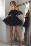 Cute Tulle Lace Short Prom Dresses, Homecoming Dresses Short HCD111 - Ombreprom