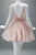 Pink Boat Homecoming Dresses,Sleeveless V Back Appliques Puff Short Prom Dress HCD129 - Ombreprom