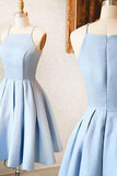Simple Light Blue Homecoming Dress,Stain Cute Evening Dress,Formal Dress2017,New Arrival