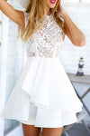 A Line Chiffon Sleeveless Homecoming Dress, Elegant Lace Up Short Prom Dress, HCD43 - Ombreprom