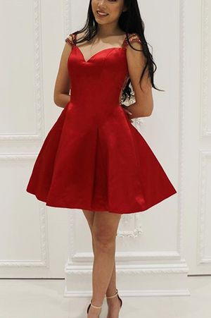 33416fae05 Sexy Red A-Line Homecoming Dresses