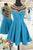 Sexy A-Line V Neck Homecoming Dresses,Sheer Back Beaded Satin Cocktail Short Prom Dresses2017