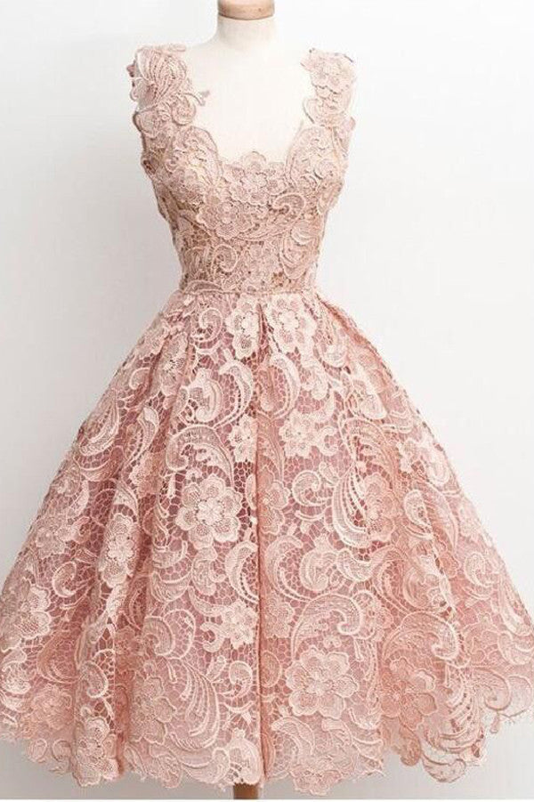 Princess Pink Appliques Homecoming Dresses,Ball Gown Sleeveless Short Prom Dress