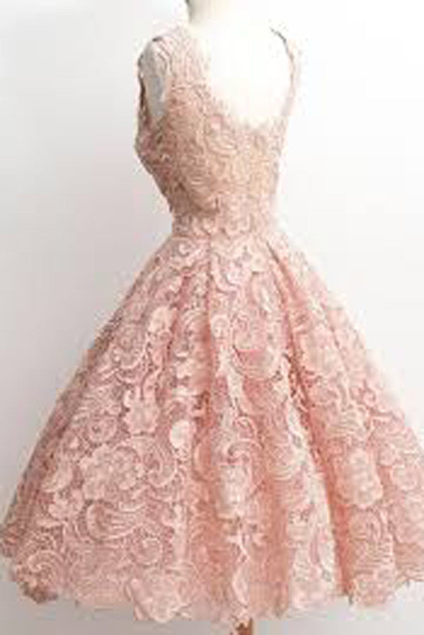 Princess Pink Appliques Homecoming Dresses,Ball Gown Sleeveless Short Prom Dress HCD77 - Ombreprom