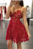 Sexy Deep V-Neck Homecoming Dress,Two Straps Sleeveless Hollow Short Prom Dress HCD91 - Ombreprom