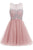 Cute Sleeveless Chiffon Homecoming Dress,Sheer Beading Short Prom Dress HCD97 - Ombreprom