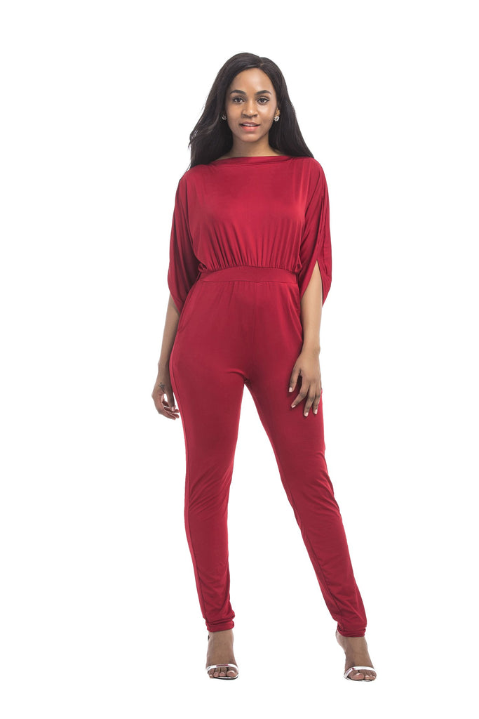 Half Sleeve Jumpsuit Party Dress FP3317