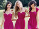 Cheap Sweetheart A Line Chiffon With Split Side Floor Length Bridesmaid Dress B419