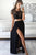 Chic Two Piece With Lace Appliques Split Side Long Prom Dresses P620