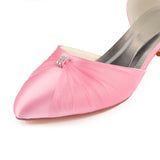 Classy Pink Ankle Strap Comfy Evening Party Shoes S05
