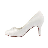 Elegant High Heel Handmade Lace Women Wedding Shoes S06