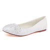Beautiful White Lace Flat With Beaded Women Wedding Shoes S09 - Ombreprom