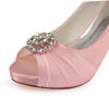 Charming High Heel Lace Handmade Beading Wedding Shoes S16 - Ombreprom