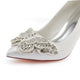 Chic Satin High Heel Handmade With Beading Wedding Shoes S19