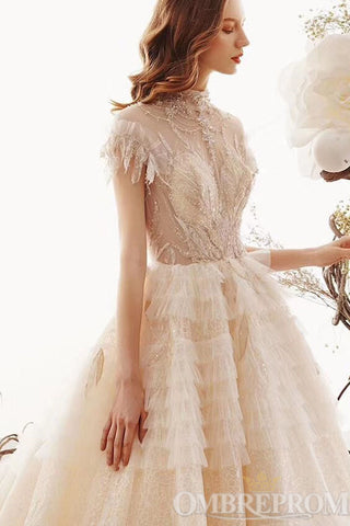 products/Luxury_Short_Sleeves_Lace_Wedding_Dress_Beading_Long_Bridal_Gown_W713_1.jpg