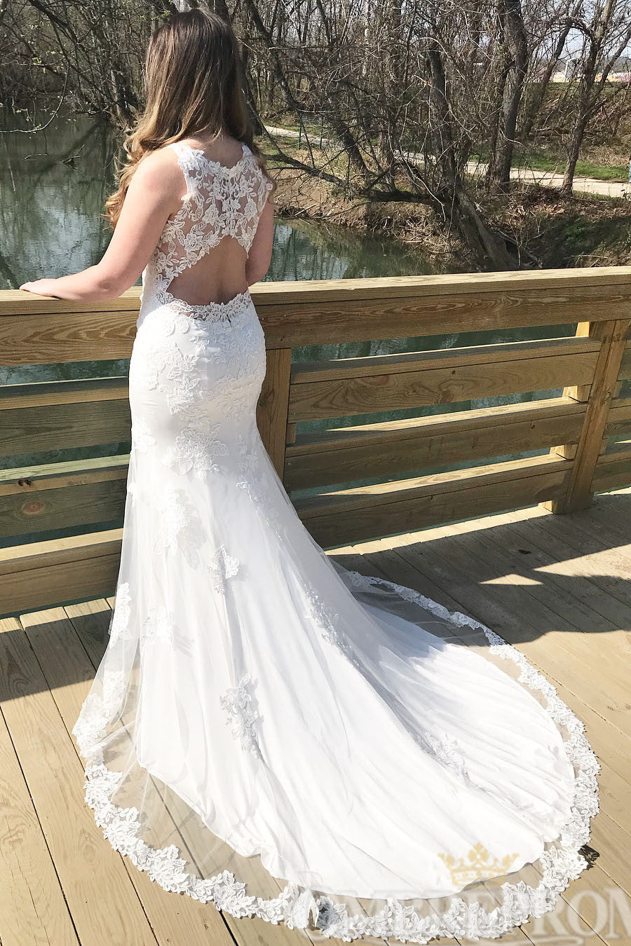 Luxury Sleeveless Lace Mermaid Wedding Dress W764