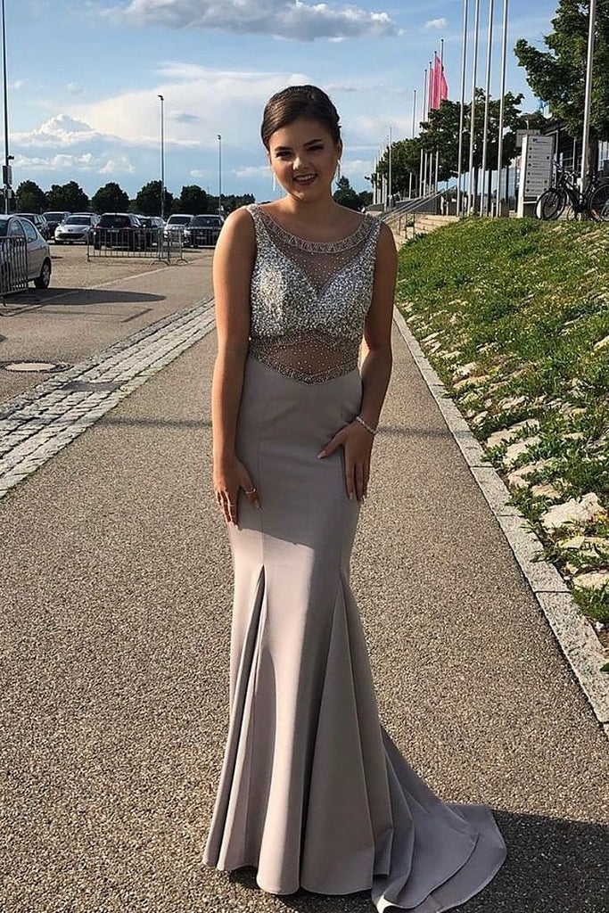 Charming Long Prom Dresses Simple Elegant Beauty Evening Dresses M1020