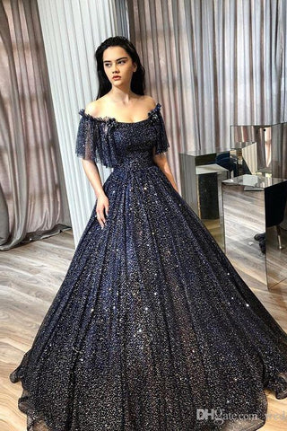 New Arrival Gorgeous Long Beauty Eveing Dresses A-line Formal Prom Dress M1024