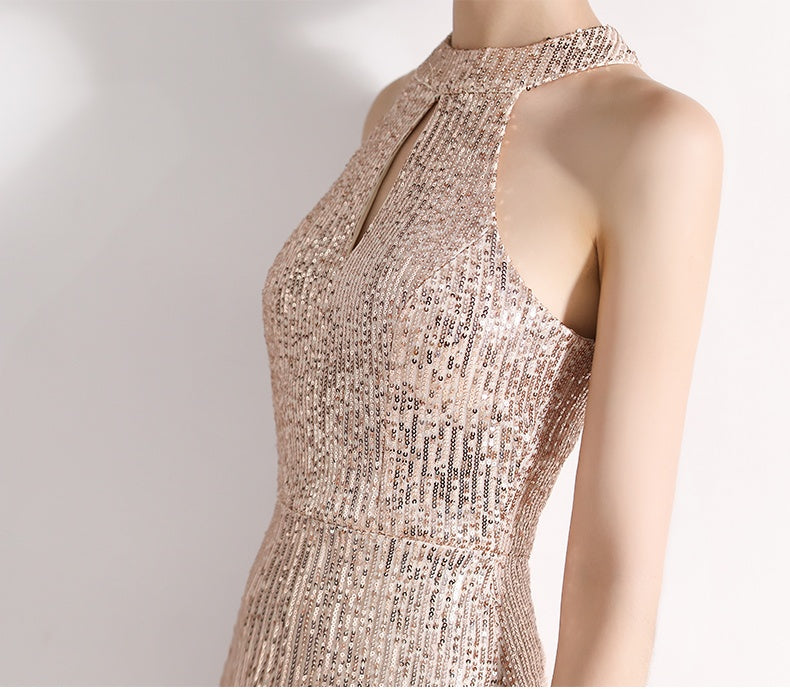 New Arrival Zipper Back Mermaid Sequins Long Party Prom Dresses M1063