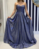 Sweetheart A-line Shiny Prom Dresses For Teens Simple Party Dress M1078