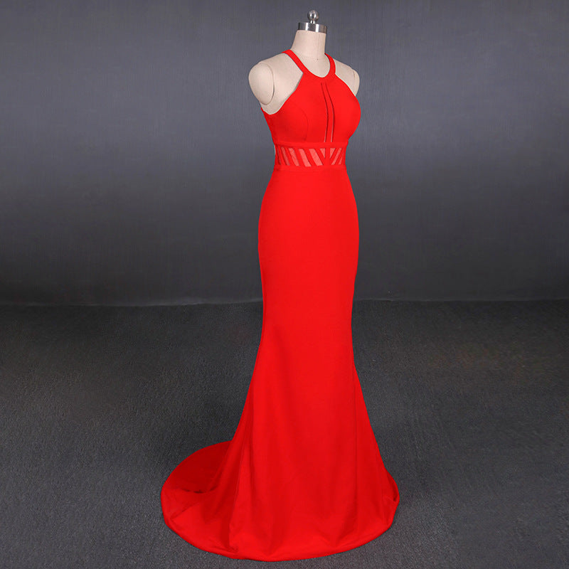 Simple Red Mermaid Long Prom Dresses Elegant Party Dresses Prom Gowns M832