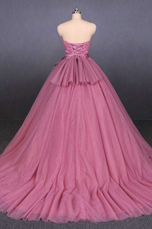 Strapless Ball Gowns Prom Dresses Simple Quinceanera Dresses For Teens M843