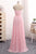 Elegant Strapless A-line Pink Chiffon Long Prom Dresses Girly Dresses M872