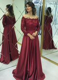Formal Lace Satin Long Party Prom Dresses Tight Evening Dresses M901