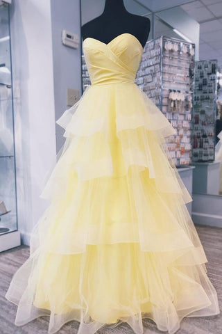 Unique Sweetheart Backless Prom Dresses For Teens Elegant Daffodil Party Dresses M924