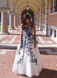 Beautiful V-neck Modest Prom Dresses Elegant Floor Length Party Dresses M928