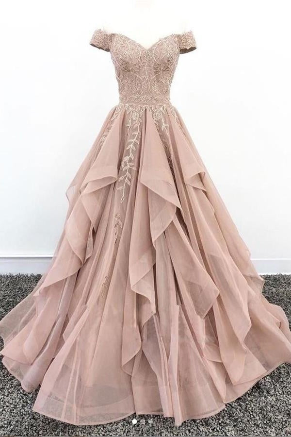 Tight Lace Up Off The Shoulder Prom Dresses For Teens Princess Prom Dress M933