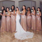Sweetheart Backless Long A-line Bridesmaid Dresses Simple Bridesmaid Gowns M984