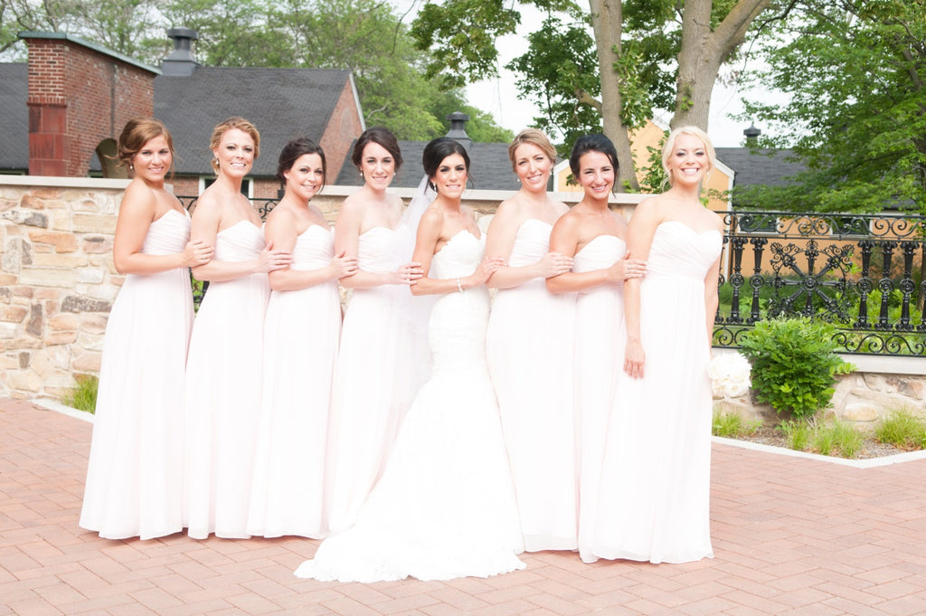 Charming Sweetheart Ivory Chiffon Long Floor Length Simple Bridesmaid Dresses M997